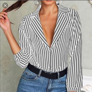 Tops - NWT Stripped chiffon blouse